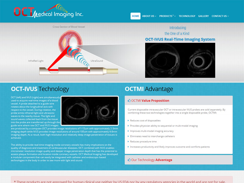 OCT Medical Imaging Systems, USA